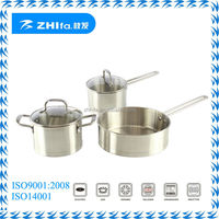 high quality 5pcs wholesale stainless steel italian cookware