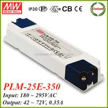 Meanwell PLM-25E-350 350ma led driver 25w