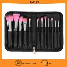 Private label makeup brush set 12pcs copper ferrule customized makeup brush set