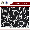 New design China Flock Textile Cationic black and white Floding Sofa Bed Fabric