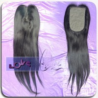 7A 8 inch Centre Part Brazilian Straight Silk Base Closure 3.5x3 Natural Color, cheap silk base closure Can be Dyed or Ironed