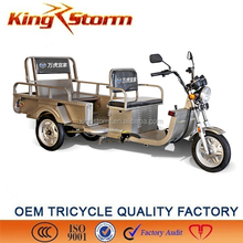 2016 new type 1000W electric passenger tricycle operate by battery ,hot sales