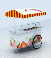 Outdoor trip style ice cream cart | crepe cart in the street for sale