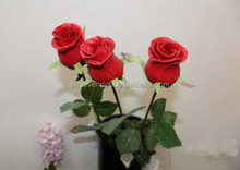 70 cm single artificial rose flowers real touch PU making for decoration