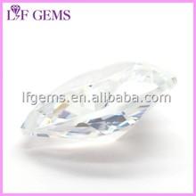Transparent Diamond Cut Heart Shape Rough Glass Stone Gems