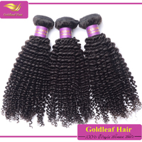 Hot selling 100%Natural brazilian hair weaves bundles tight curly hair extension for black women
