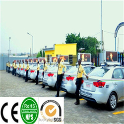 hd led panels car top sign, outdoor led pizza signs, neon taxi sign