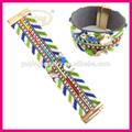 Bohemio estilo de la moda nacional colorido cierre magnético de ancho pulseras personalizadas, de la cinta pulsera personalizada