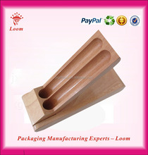Double vessel pencil cases wooden pen box for selling