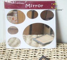 Hot Sale Oval Design Mirrors Stickers