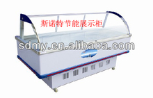 CE Energy saving fresh food display cabinet for cooling display cabinet in supermarket
