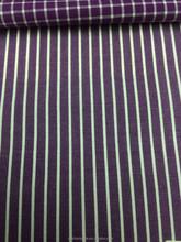 Plum Purple and White Stripes Cotton Fabric