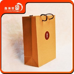 Customized high quality recyclable printed shopping brown craft paper bag
