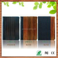 for ipad mini 2/3 real wood leather flip case wholesale