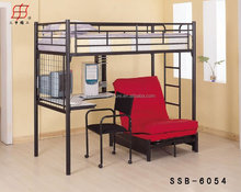 Metal School Furniture Cheap Metal Student Bunk Bed with Desk