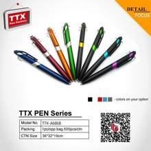 Regalo de plástico pen, lápiz mecánico plástico, venta al por mayor barato de la pluma promocional plástica