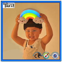 Wireless table lamp for kids of rainbow shape