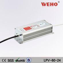 2014 china waterproof 60w 24v universal computer power supply