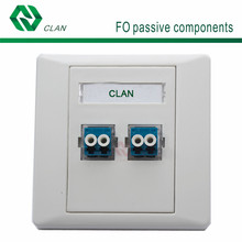 2 dual LC Port ABS Fiber Optic Faceplate/ Network Face Plate