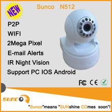 Hot selling 1080P plug&play wireless IP camera pan/tilt, sd card recording, support motion detection, p2p apps for mobile phone