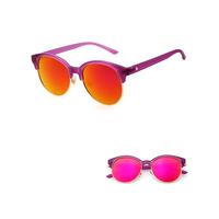 High quality comfortable half rim popular sunglasses