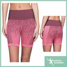 custom sublimation printed women sexy booty shorts yogo wear spandex shorts 4 way stretch board shorts