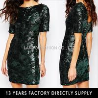 Short Sleeve Sequin Dress bling bling cocktail dress