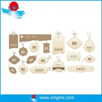 Small MOQ White Brown Custom Sale Tag Label Pictures