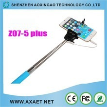 Aluminium alloy selfie monopod cable take pole selfie stick