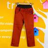 hot sale slim fit woven cotton pants for kids