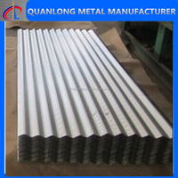 zinc coated corrugated metal roofing panel