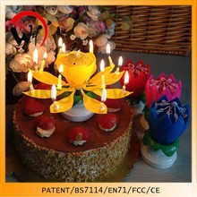 lotus flower candle rotating