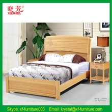 Bedroom furniture simple double bed solid wood storage bed