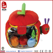 New toy China wholesale China supplier soft baby toys plush apple playset