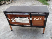 wooden rabbit hutch cover