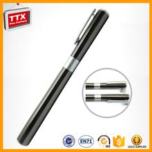 Customised business sand balst premium metal click pen