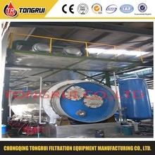 Tong Rui DDR high-end market advanced technology 30-100tons continuous waste tyre pyrolysis to diesel fuel oil plant
