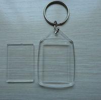 bulk wholesale clear blank acrylic photo frame keychains
