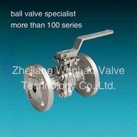 WB-096 Zhejiang Factory Produce two piece rotating flanged ball valve with lever handle