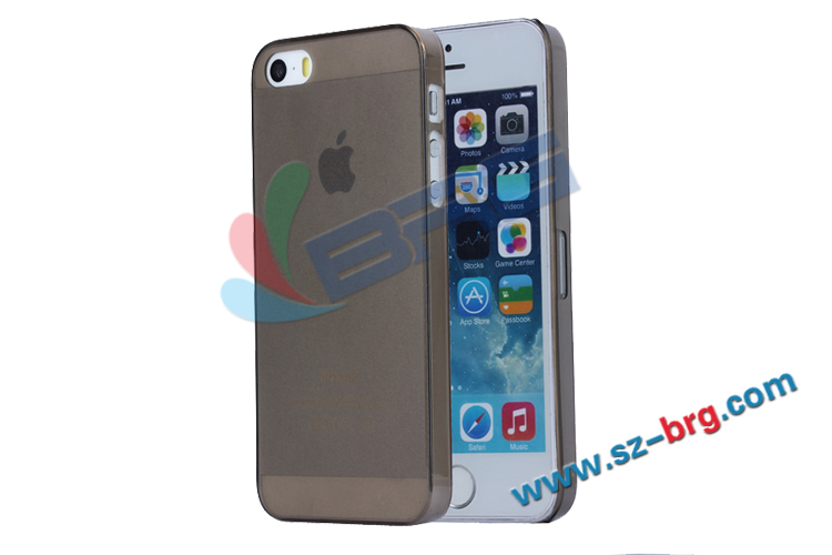 BRG Free shipping!!! Wholesale Cheapest 0.5mm ultra-thin transparent pc case for iphone 5S