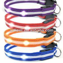 fluorescent dog collars flashing dog collar led glowing collar