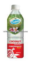 el agua de coco jugo con