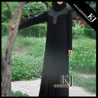 KJ-LD127 2015 new design abaya telekung lycra muslim dress women maxi dress long dress islamic women nightwear abaya chador