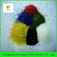 colored glass sand for blasting and decoration