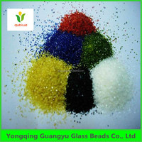 colored irregular glass sand for decoration