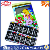 bright colored non- toxic oil pastel wooden crayons