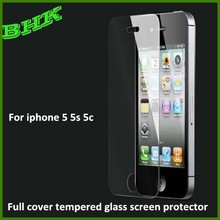 ultra thin anti-smudge full cover tempered glass screen protector for iphone 5 5s 5c,screen protector anti-scratch