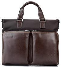 2015 fashion business men bag leather man laptop bag