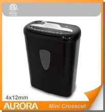 Aurora AS600CM Plastic Paper Shredder, 6 sheet (A4) Mini crosscut 4 x12mm.Medium DutyShredding machine for Office & SOHO