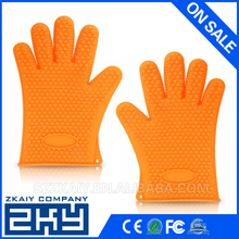 Zky -The Amazing Heat Resistant High Grade Silicone Kitchen and BBQ Gloves Ideal for Inside Oven Cooking or Outside Bbq Grilling